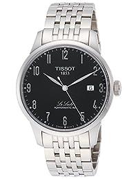 TISSOT MEN'S STEEL BRACELET & CASE AUTOMATIC BLACK DIAL WATCH T0064071105200