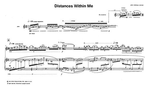 Distances Within Me for Alto Saxophone and Piano