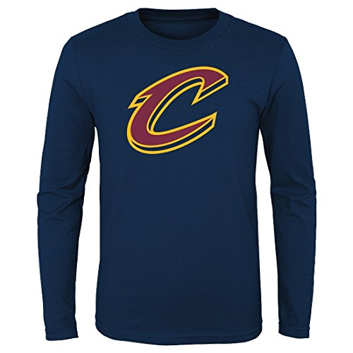 Navy Blue Youth Primary T-shirt - Outerstuff Cleveland Cavaliers Youth NBA Primary Logo Long Sleeve T-Shirt