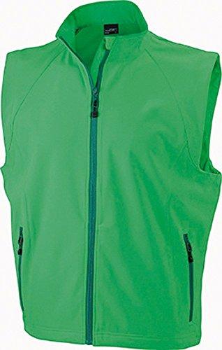 JN1022 Men's Softshell Vest Modische Softshellweste, Größe:L, Farbe:GREEN