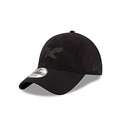 Philadelphia Eagles Classic Throwback Black on Black 9TWENTY Adjustable Hat / Cap by New Era