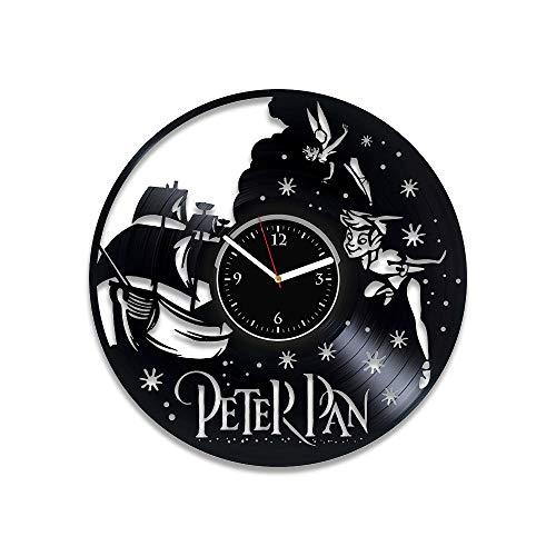 RainbowClocks Peter Pan Clock Disney Gift Peter Pan Vinyl Wall Clock Disney Wall Clock Large Peter Pan Disney Clock Gift For Kids Peter Pan 12 inch Clock Peter Pan Vinyl Clock Disney Vinyl Wall Clock