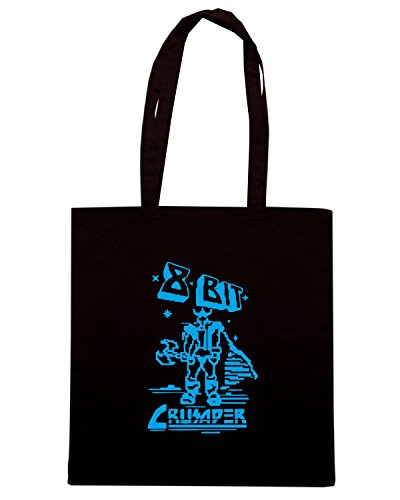 T-Shirtshock - Bolsa para la compra FUN0194 8 Bit Crusader T SHIRT detail Negro