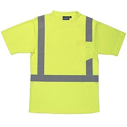 8f07bb5735e4d4 Amazon.com: ERB 61672 9006S ANSI Hi-Vizability Short Sleeve Birdseye Mesh  Shirt, Lime Green, X-Large: Home Improvement