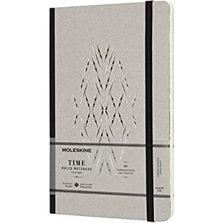 "Moleskine Limited Collection Time Notebook, Hard Cover, Large (5"" x 8.25"") Ruled/Lined, 240 Pages"