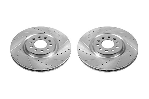 (Power Stop AR83087XPR Front Evolution Drilled & Slotted Rotor Pair)
