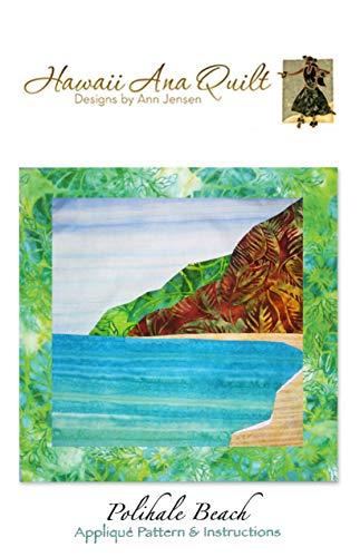 Polihale Beach Applique Quilt Pattern Mountains Ocean Sand Batiks Hawaii Ana