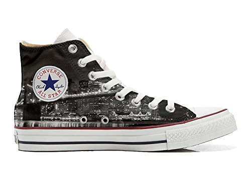 Converse Customized Adulte - chaussures coutume (produit artisanal) NY Night