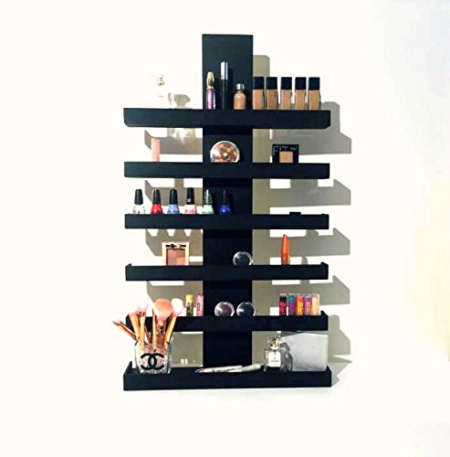 Wall Mounted Makeup Organizer, Makeup Organizer, Makeup Storage, Makeup Shelf, Cosmetic Display, Wood Makeup Organizer, Essential Oils Shelf, Oils Organizer, Gifts for Her by Highland Design Co