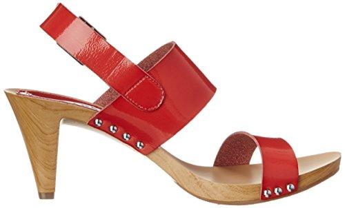 Nina Womens Kathleen-S Dress Sandal Red Patent