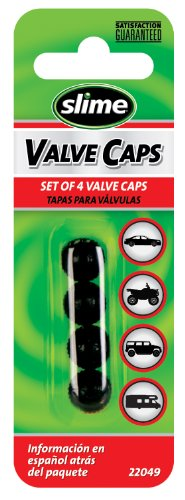 Slime 22049 Black Plastic Valve Caps