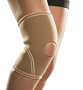 Gordon Ellis Neoprene Knee Support - Open Patella (Beige, Small)