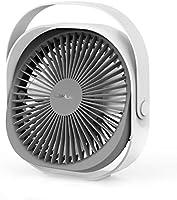 Lahuko Ventilateur USB, Ventilateur de Table, Ventilateur Rechargeable Ventilateur Silencieux Personnel Portable 360 °...