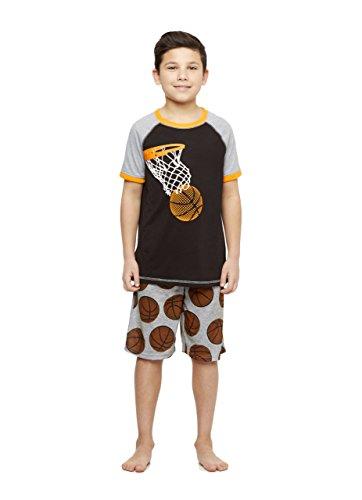 Basketball Boys Pajamas - Basketball Boys 2-Piece Knit Pajamas Shorts Set Size L