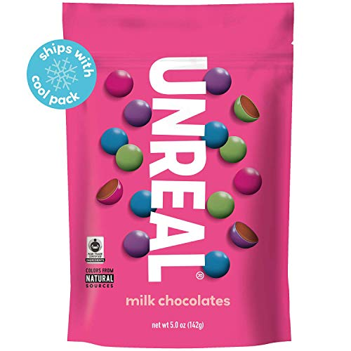 - UNREAL Milk Chocolate Gems | Naturally Colored, Less Sugar | 6 Bags