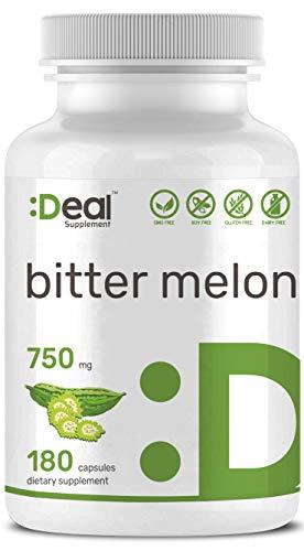 Deal Supplement Organic Bitter Melon 750mg, 180 Capsules, Balanced Blood Sugar Level Support, Non-GMO, Made in USA (Best Bitter Melon Supplement)