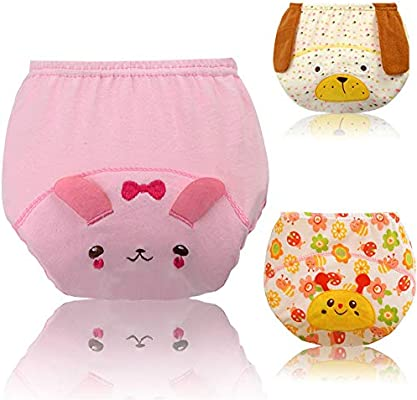 Baby Pull-Ups Pantalones de aprendizaje Ropa interior Algodón ...