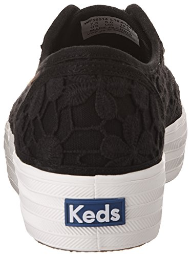 TRIPLE Keds VINTAGE Sneakers Black CROCHET Women's a55qH
