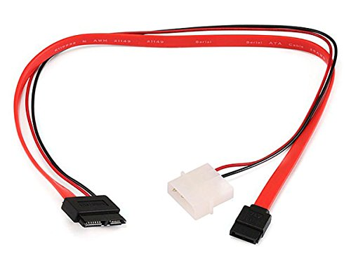 Monoprice 16-Inch Slim SATA to SATA Data and Power Combo Cable (107639)