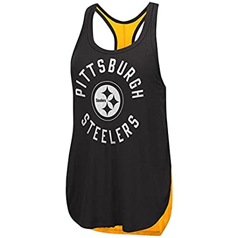 Amazon.com   Pittsburgh Steelers Women s Equalizer Tank Top   Sports ... d4ced1b2b292