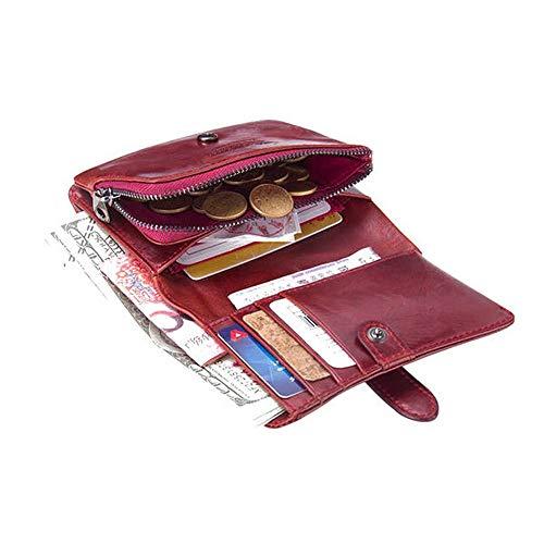 Moneda La Embrague De Red Dinero Del Cartera Vendimia Auténtico Color Cuero Monedero Taihang Sq4HBWZq