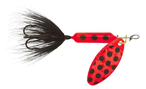 Yakima Bait Wordens Original Rooster Tail Spinner Lure, Flame Spot, 1/8-Ounce