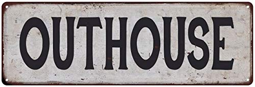(Chico Creek Signs Outhouse Vintage Look Rustic 6x18 Metal Sign Chic Retro 206180035037)