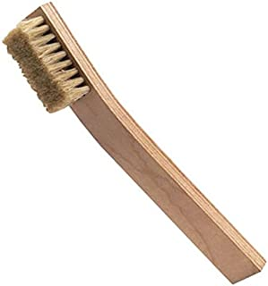 "product image for ESD-Safe Brush with 3/4"" Hog Hair Bristles and a Plywood Handle, 8-3/8"" Long"