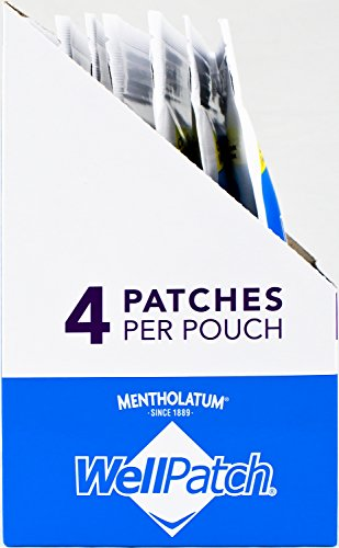 WellPatch Migraine & Headache Cooling Patch - Drug Free, Lasts Up to 12 hours, Safe to Use with Medication - Large Patches (4 Large Patches), Each 4.3 x 2 in by WellPatch (Image #1)