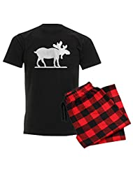 CafePress - Moose Silhouette - Men's Dark Pajamas