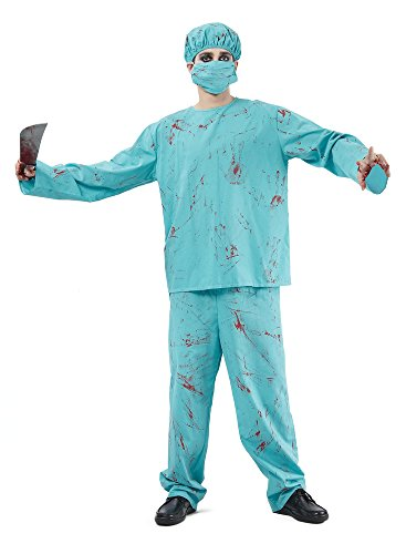 Bristol Novelty AC959 Blood Splattered Surgeon Costume, 42-44-Inch