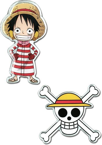 One Piece Luffy Skull Metal Pins Cool Anime Pin