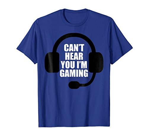 Can't Hear You I'm Gaming Video Gamer Headset Funny T-Shirt