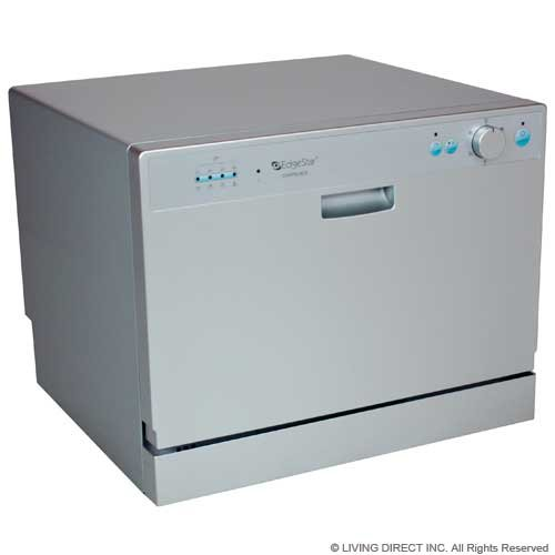Amazon.com: EdgeStar Countertop Portable Dishwasher For 6 Place Settings    Silver: Appliances