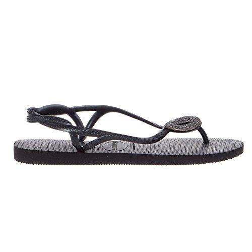 Havaianas Luna Special Sandals - Black/Dark Grey - Womens - 41/42
