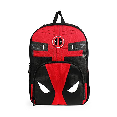 Marvel Deadpool Red and Black Backpack for Boys School Bag -