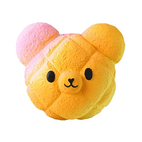 Dollar Bear - Highpot Jumbo Squishies Galaxy Bear Kawaii Squishy Slow Rising Cream Scented Stress Relief Toy for Kids/Adults (Orange)