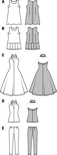 Burda Crafts Easy Sewing Pattern 6960 Barbie Style Doll Clothes Burda-6960