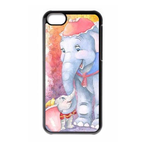 Dumbo 003 coque iPhone 5C Housse téléphone Noir de couverture de cas coque EOKXLLNCD18385