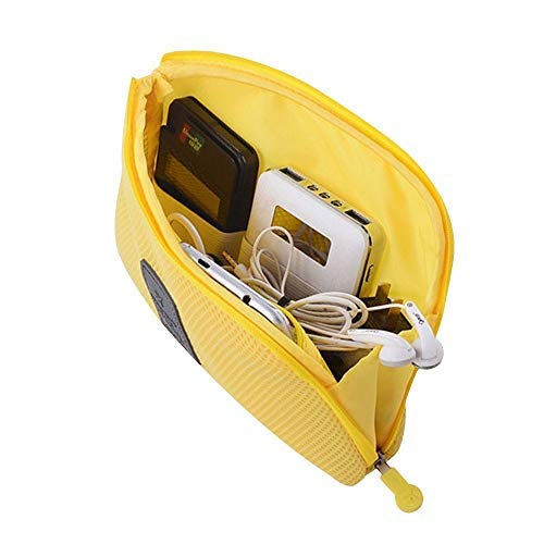 PACKNBUY Mobile Electronic Cable Pouch Travel Case Yellow (B01AZHIXAQ) Amazon Price History, Amazon Price Tracker