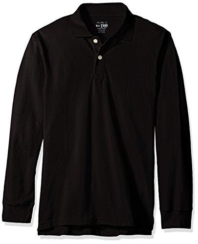 The Children's Place Big Boys Long Sleeve Uniform Polo Shirt, Black, Medium/7/8