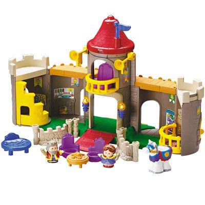 amazon com little people lil kingdom castle toys games
