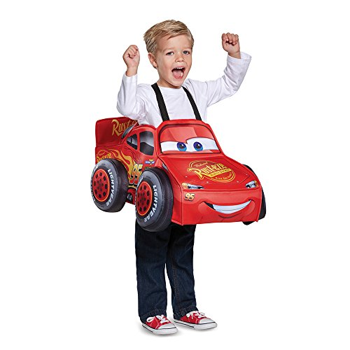 Mcqueen 3d Costume (Cars 3 Lightning Mcqueen 3D Toddler Costume, One Size (Up To Size 6))