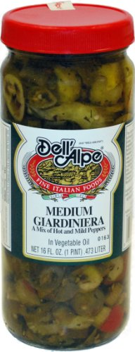Dell'Alpe Medium Giardiniera 16 oz