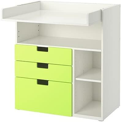 IKEA STUVA - Cambio de mesa con 3 cajones blanco/verde: Amazon.es ...