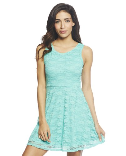 Wet Seal Women's Bow Lace Skater Dress S Mint