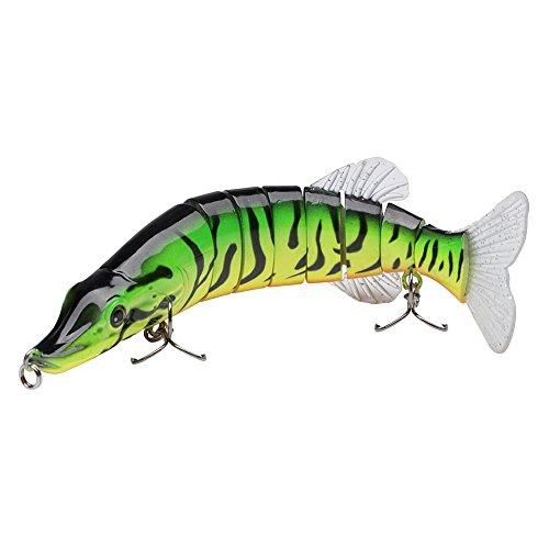 Bassdash Multi Jointed Swimbaits Bass Fishing Lure Hard Body Soft Fins 8