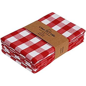 Amazon Com Red And White Checkered Gingham Kitchen Towel