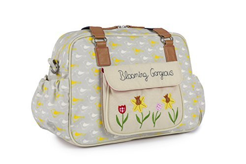 Pink Lining Blooming Gorgeous Garden Birds Changing Bag by Pink Lining