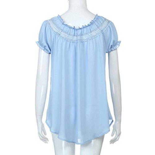 Clair Bleu Sport lgance d't Mousseline Tops de en Beikoard Shirt T Chemises Dcontracte Haut Dames de Sexy Yoga Bohme Blouses Femme Soie Top 1SCxqB
